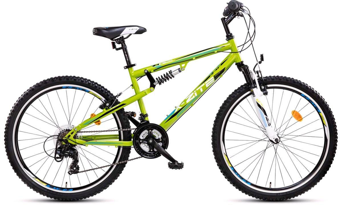 """Full suspension MTB 26"""" 21-g grøn/hvid"""