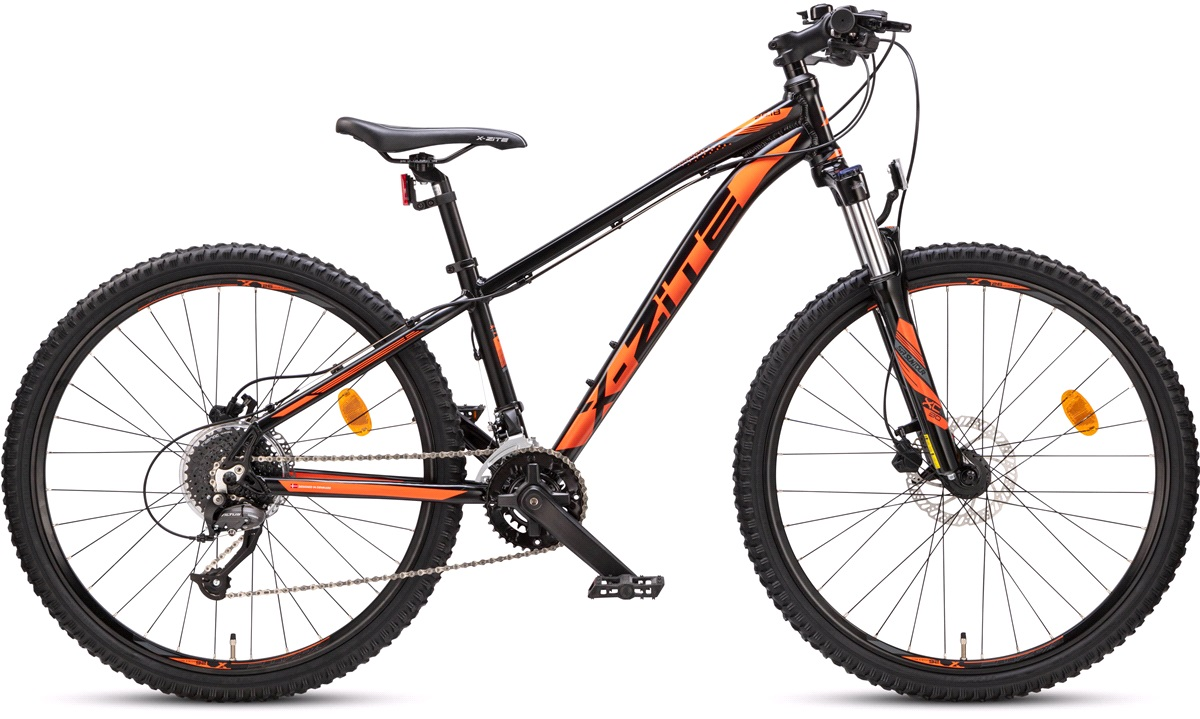 "Mountainbike 26"" 2618 2X9 speed sort/orange"
