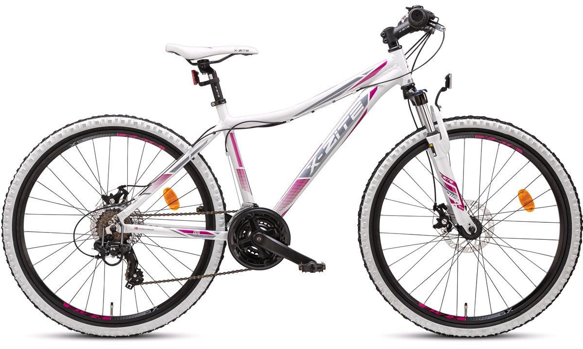"""Mountainbike 26"""" 26.21 21-gir hvit/rosa"""