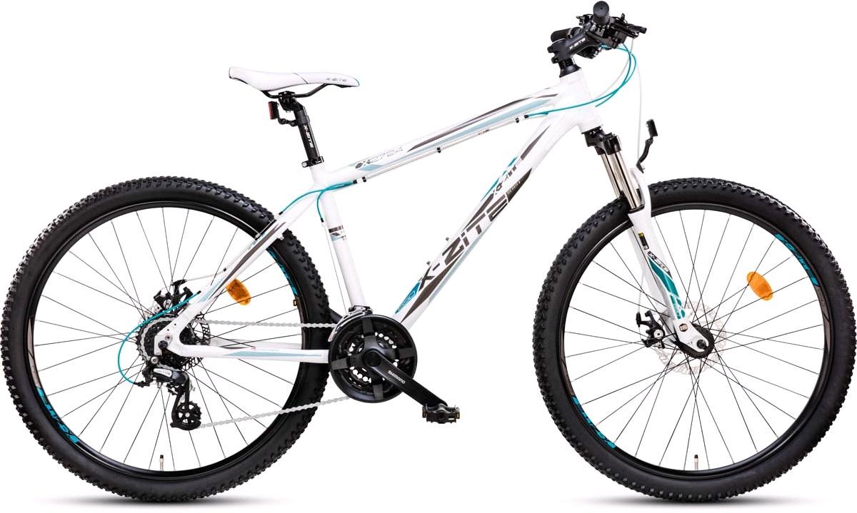"Mountainbike 2724 27,5"" 24-g hvid/blå 44cm"