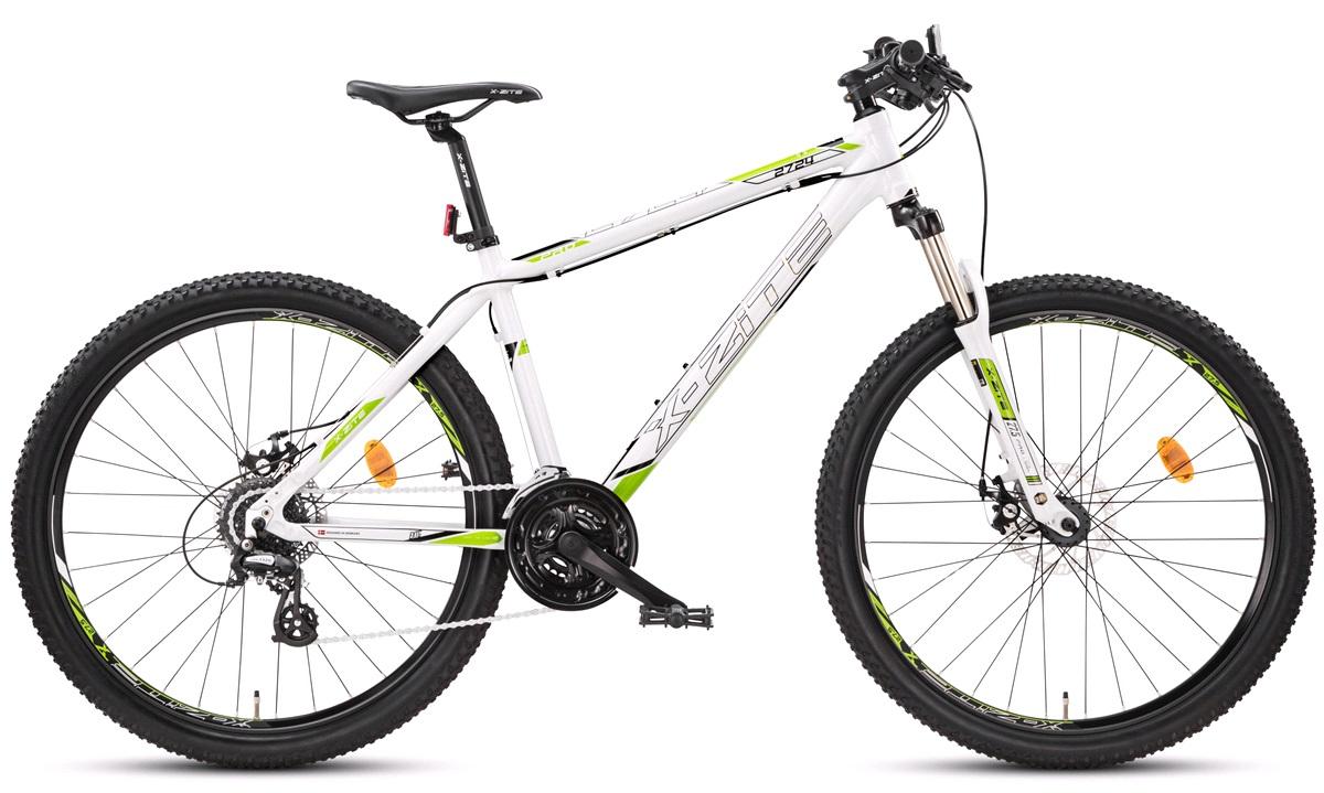 "Mountainbike 2724 27,5"" 24-g hvid/grøn 52cm"