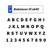 Tall/bokstaver til bilskilt