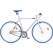 Fixie bike 57 cm sølv/blå flip flop nav