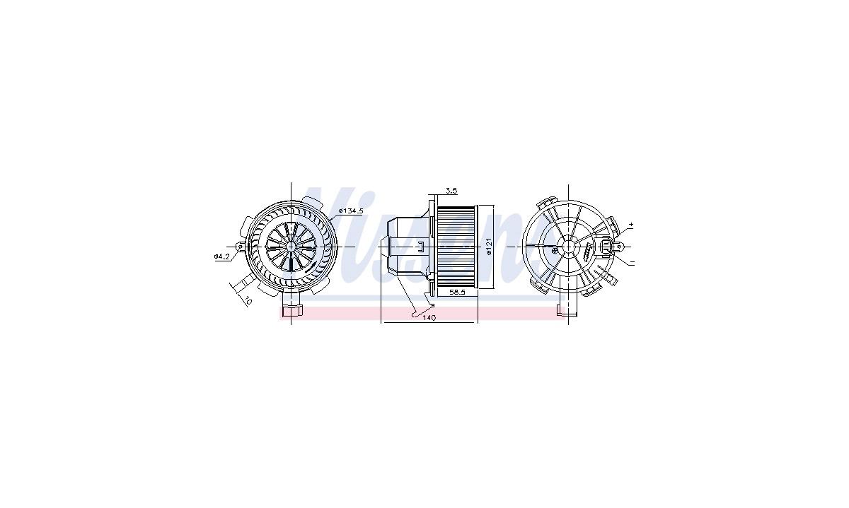 Blæsermotor, varmeapparat - (Nissens)