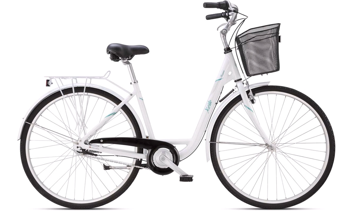 """Shopper 28"""" 7-gear hvid/grøn 47cm"""