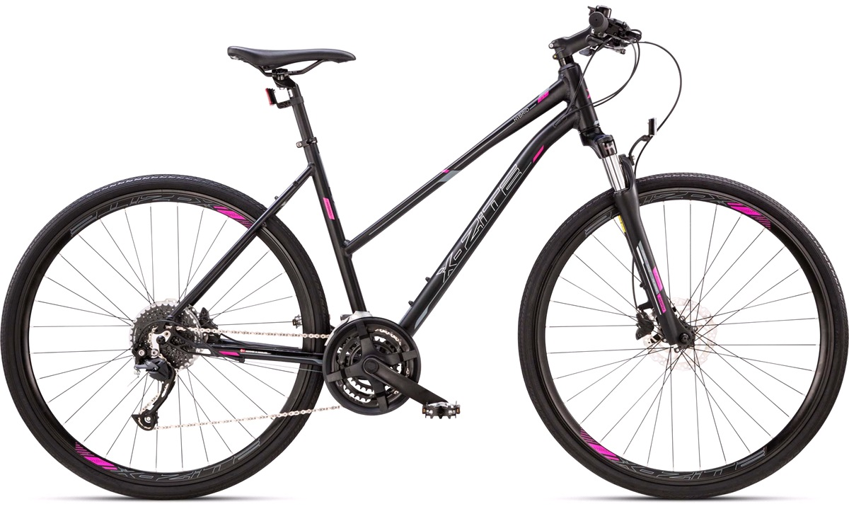 Hybrid cykel dame 27-gear suspension forgaffel 50cm.
