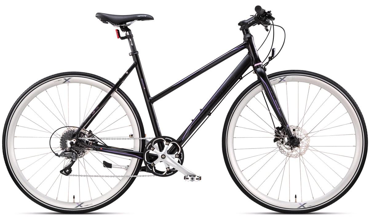 "Citybike dame 28"" sport-8 sort/lilla"