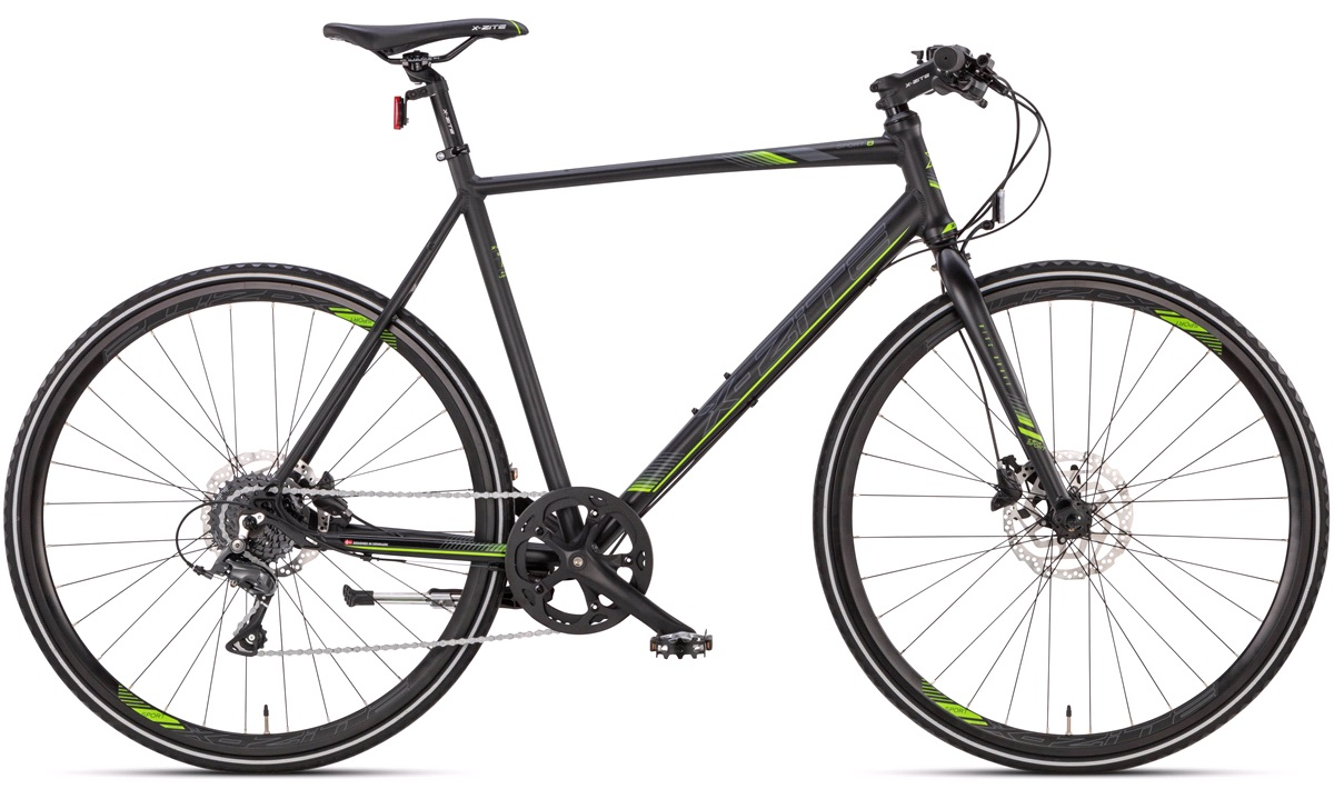 "Citybike herre 28"" sport-8 sort/grøn"