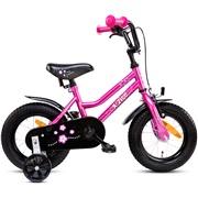 """Pigecykel 12"""" pink/hvid"""