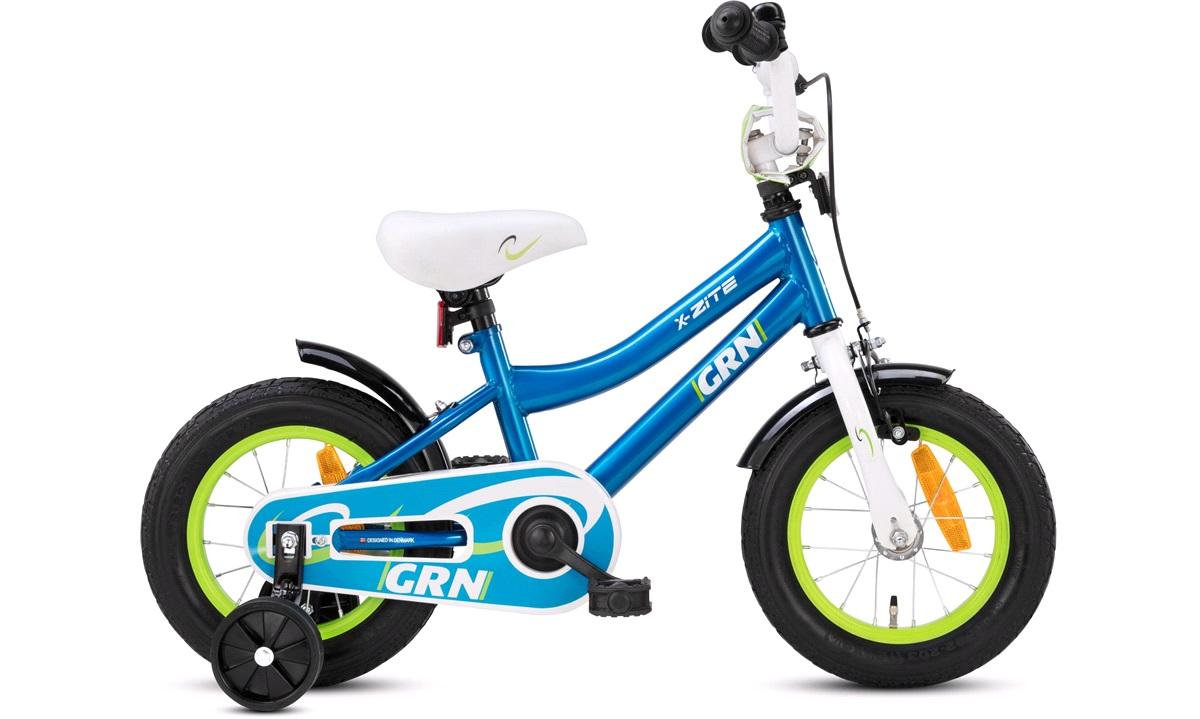 """Barnesykkel 12"""" GRN grønn/blå/hvit"""