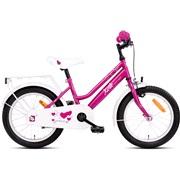 """Pigecykel 16"""" Pink/hvid"""