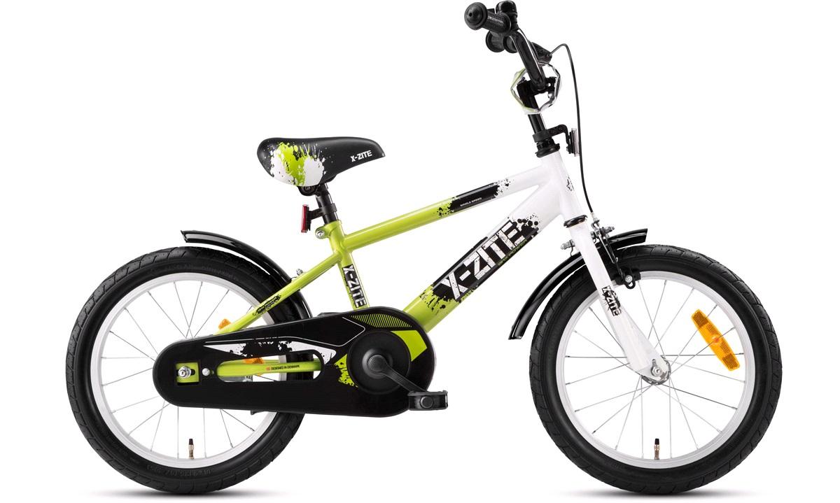 "Barnesykkel 16"" grønn/sort/hvit BMX Pow."