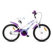 """Pigecykel 18"""" purple cat hvid/purple"""
