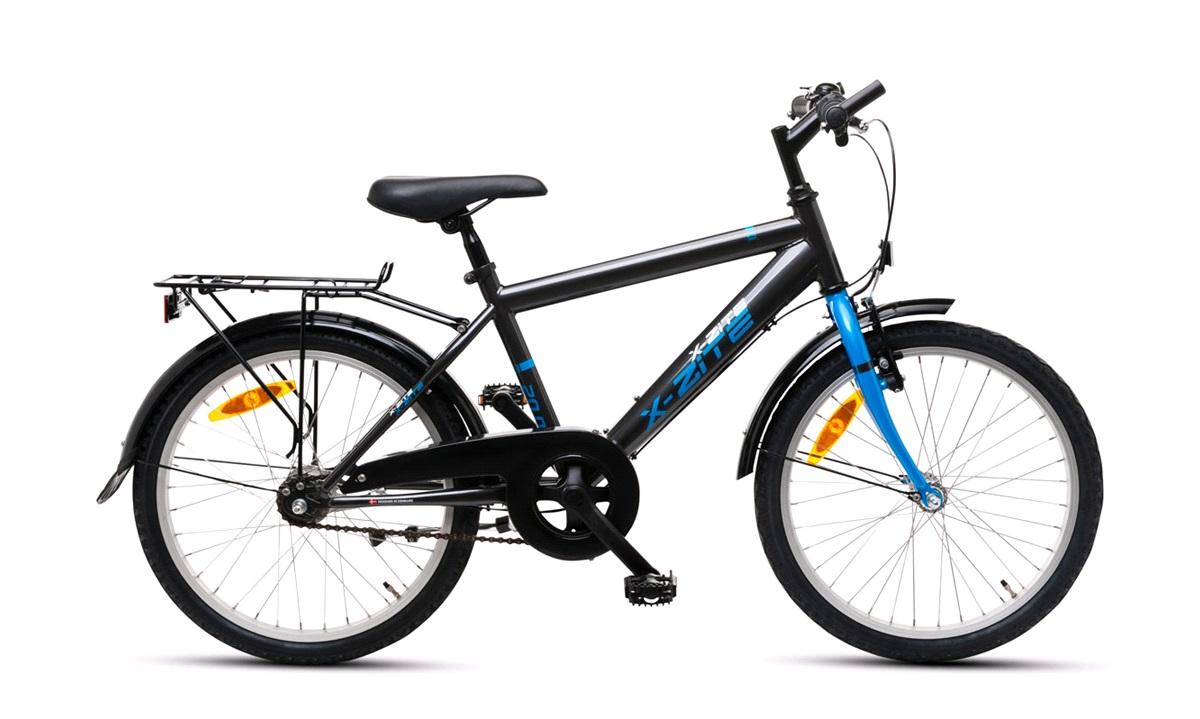 """Drengecykel 20"""" 3-gear 20.03 Koksgrå/blå"""