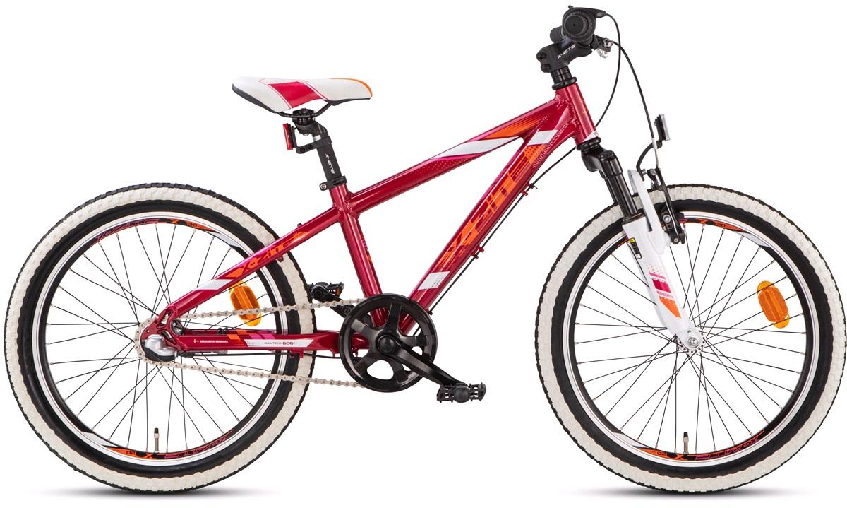 "Pigecykel mountainbike Nexus 3 20"" rød/orange/hvid"