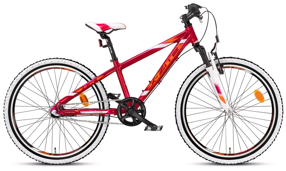"Pigecykel 24"" MTB Nexus 3 rød/orange/hvid"