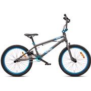 """BMX 20"""" freestyle aluminium sort/blå"""