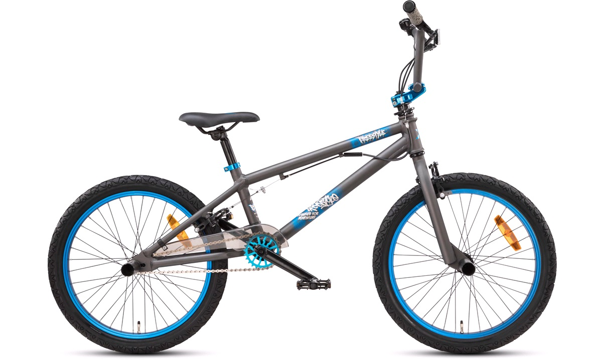"BMX 20"" freestyle aluminium sort/blå"