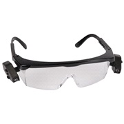 Beskyttelsesbriller med lys