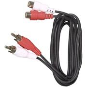 Phono forlæng.kabel 2 stik 2 udtag 1,5M