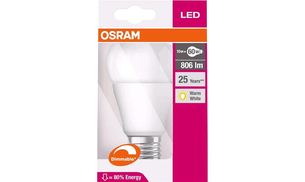 OSRAM LED Standard 60W/827 E27 Dæmpbar