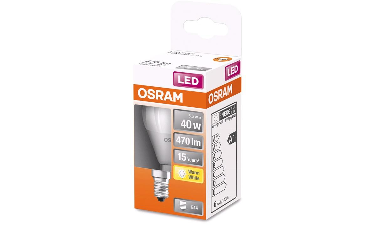 OSRAM LED STAR Krone E14 CLP 6W