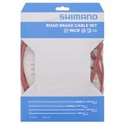 Bremsekabelsett Shimano PTFE rød rustfri