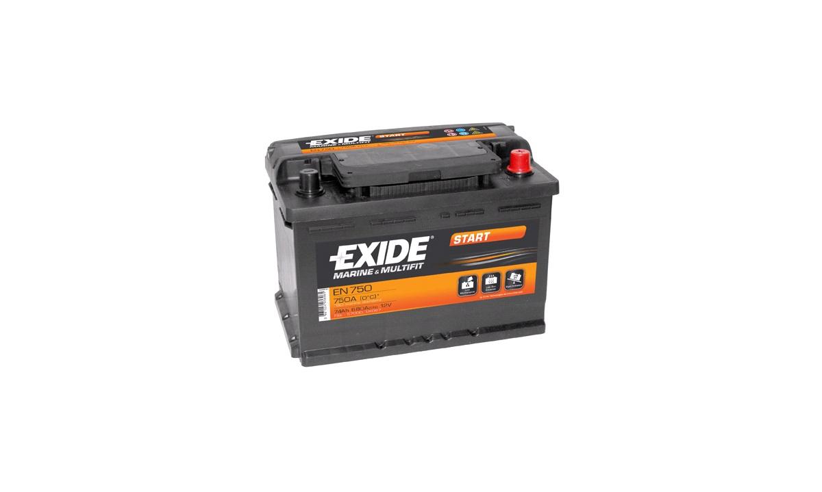 Batteri - EN750 - EXIDE START - (Exide)