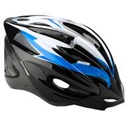 Cykelhjelm sort/blå/hvid junior 52-55