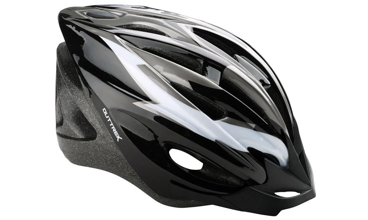 Cykelhjelm sort/grå/hvid medium 55-58
