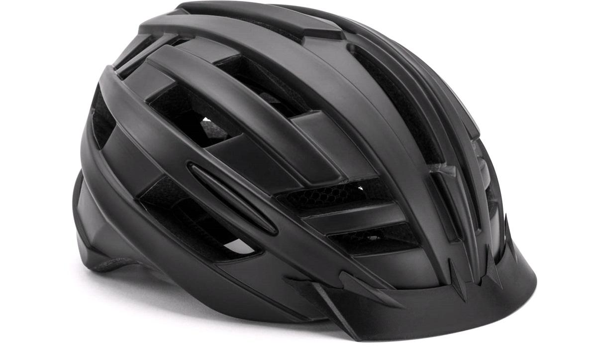 Cykelhjelm m/baglys matsort medium 55-58 cm