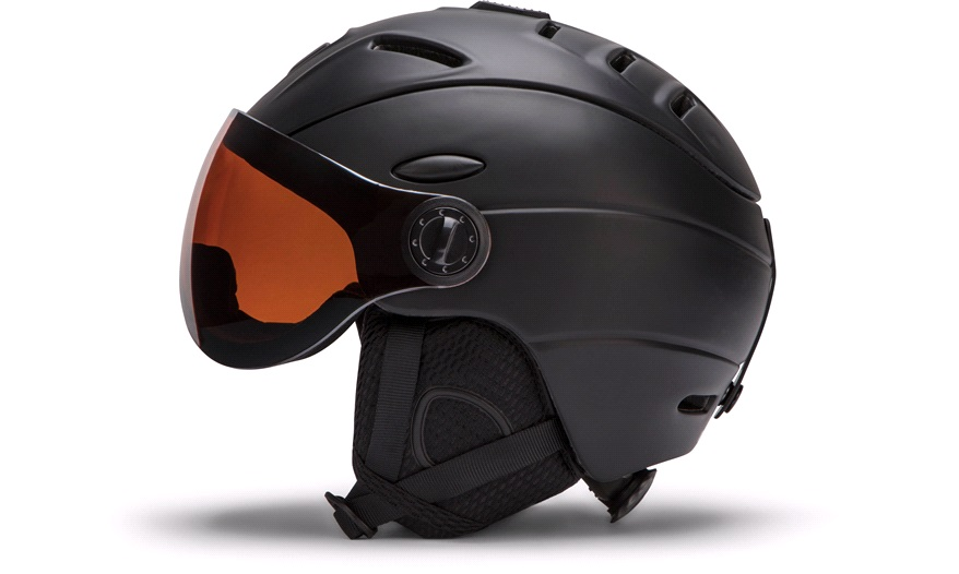 9b68a2169 Skihjelm med visir, sort, medium - Skihjelm til voksen - thansen.no