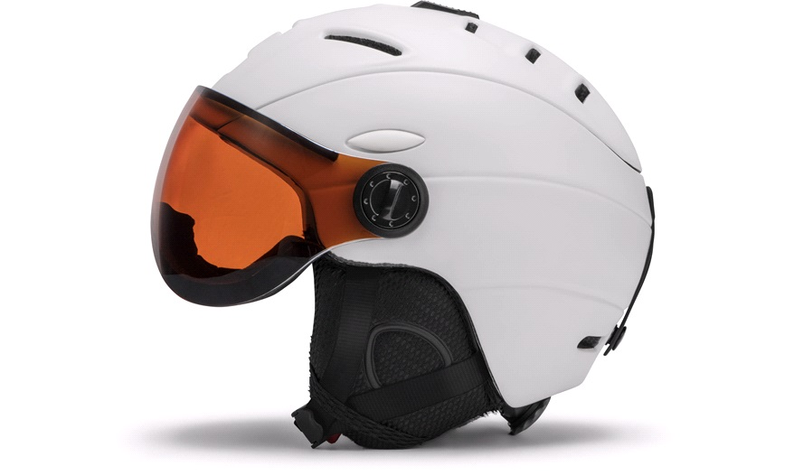 3719f1df2 Skihjelm med visir, hvit, medium - Skihjelm til voksen - thansen.no