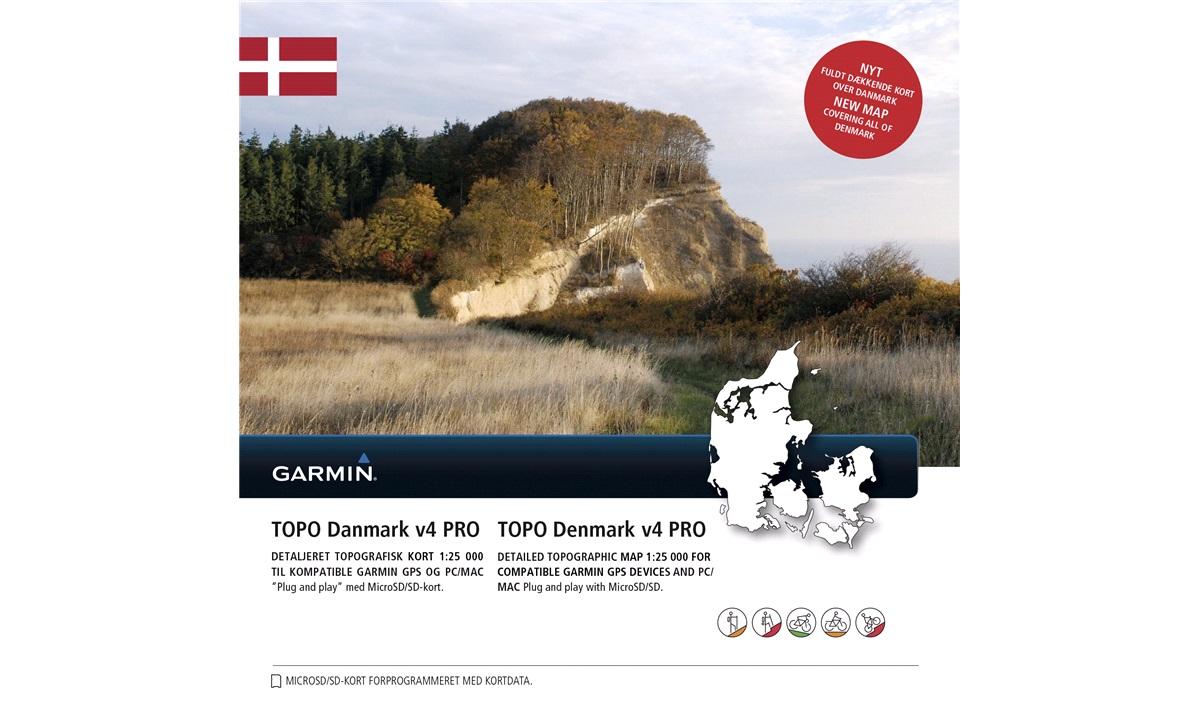 Topo Danmark V4 Pro Garmin Microsd Sd Garmin Tilbehor Thansen Dk