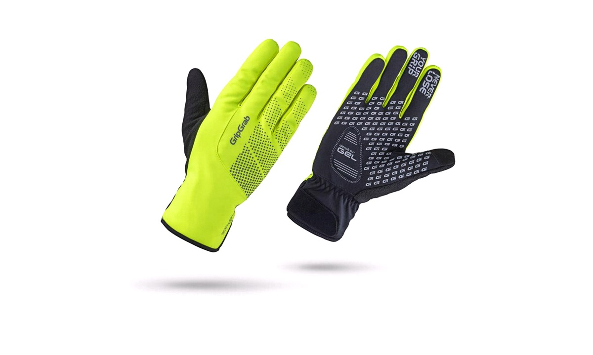 GripGrab handske waterproof winter glove Hi-Vis str. L