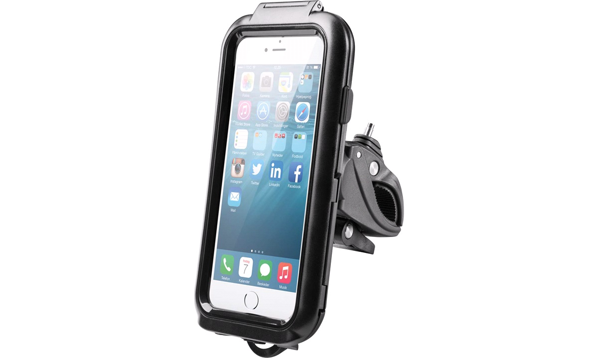 iPhone 6+7+8 cover med cykelbeslag