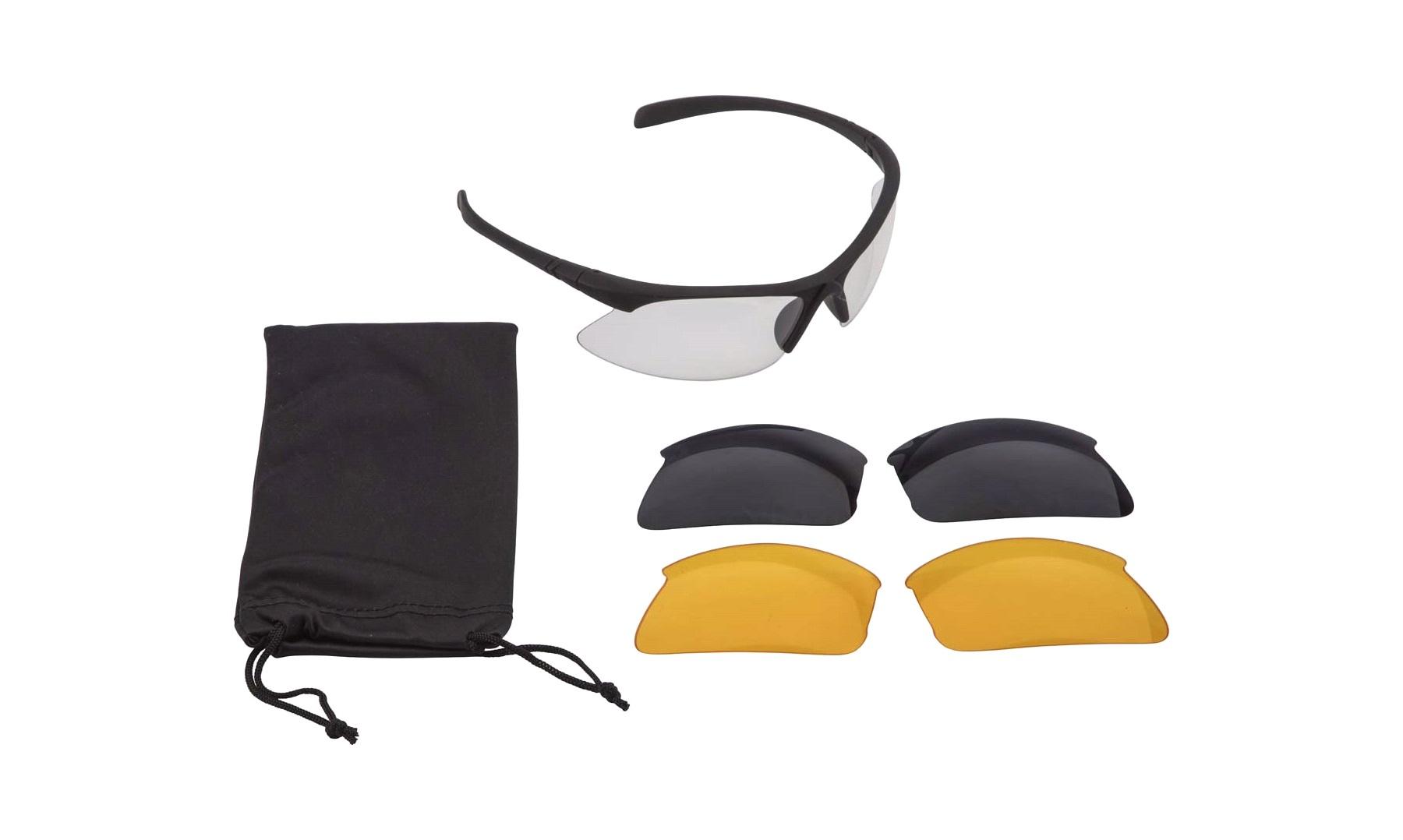 Sportsbrille inkl. 3 udskiftelige glas Solbriller
