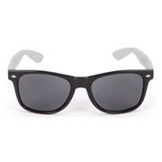 Solbrille Wayfarer sort m. hvide stænger