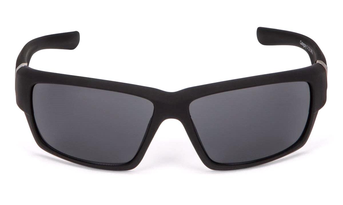 Solbrille sport mat sort rubber