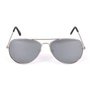 Solbrille metal pilot sølv med sølvspeil