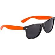 Solbrille wayfarer sort orange stænger