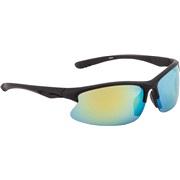 Sportsbrille sort rubber gult revospejl