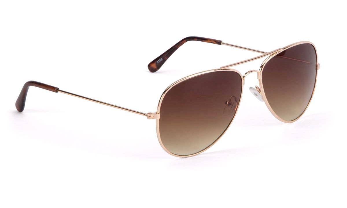 Solbrille, pilot guld/brun