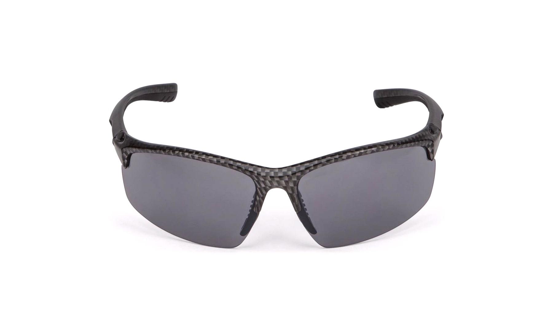 Solbrille carbonlook grå glas Briller thansen.dk