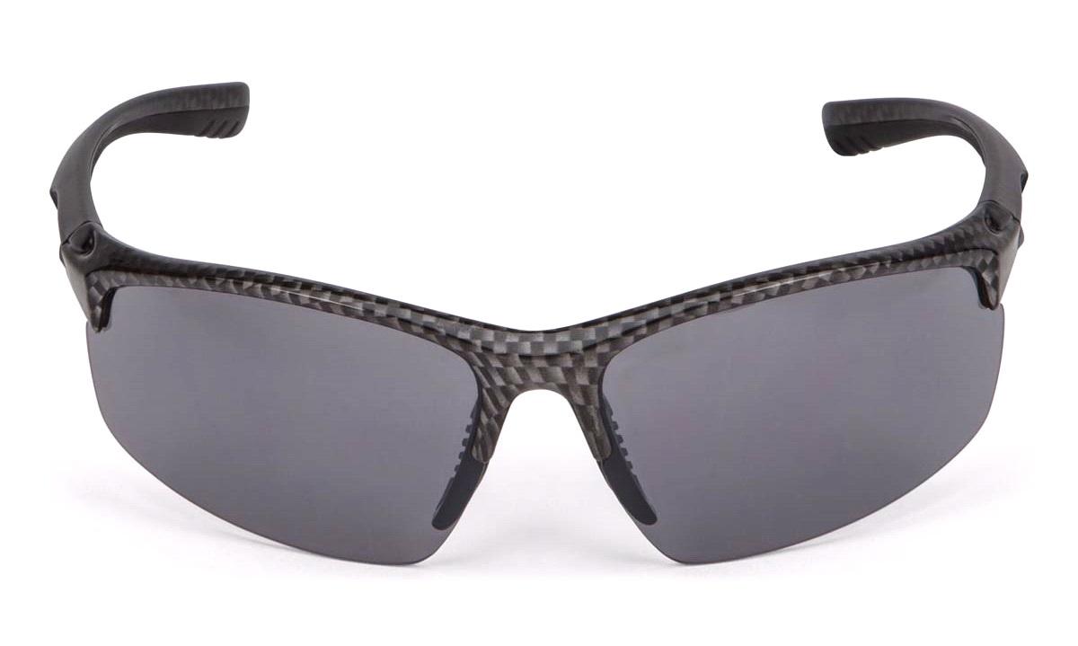 Solbrille carbonlook grå glas