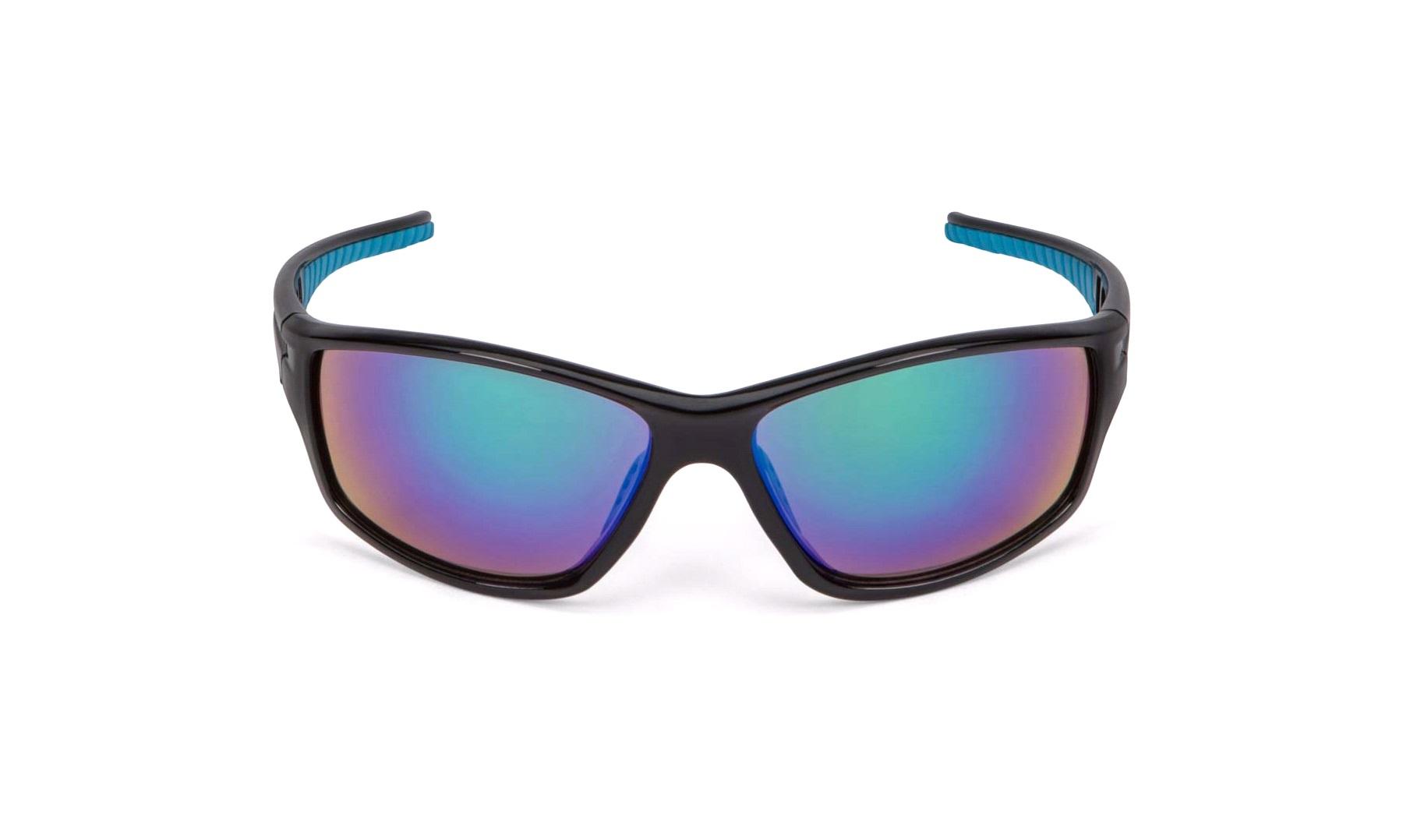 Solbriller sort sølvgrå glass grønn rev Briller thansen.no