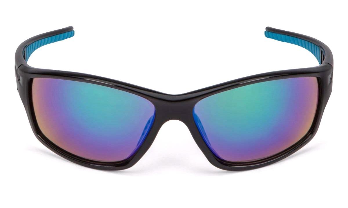 Solbrille sortblå grøn revo glas Briller thansen.dk