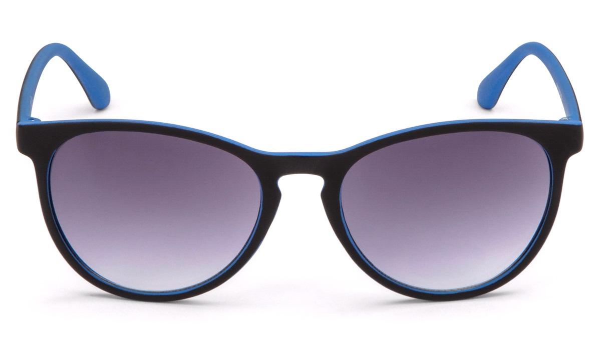 Solbrille unisex sort/blå rubber finish