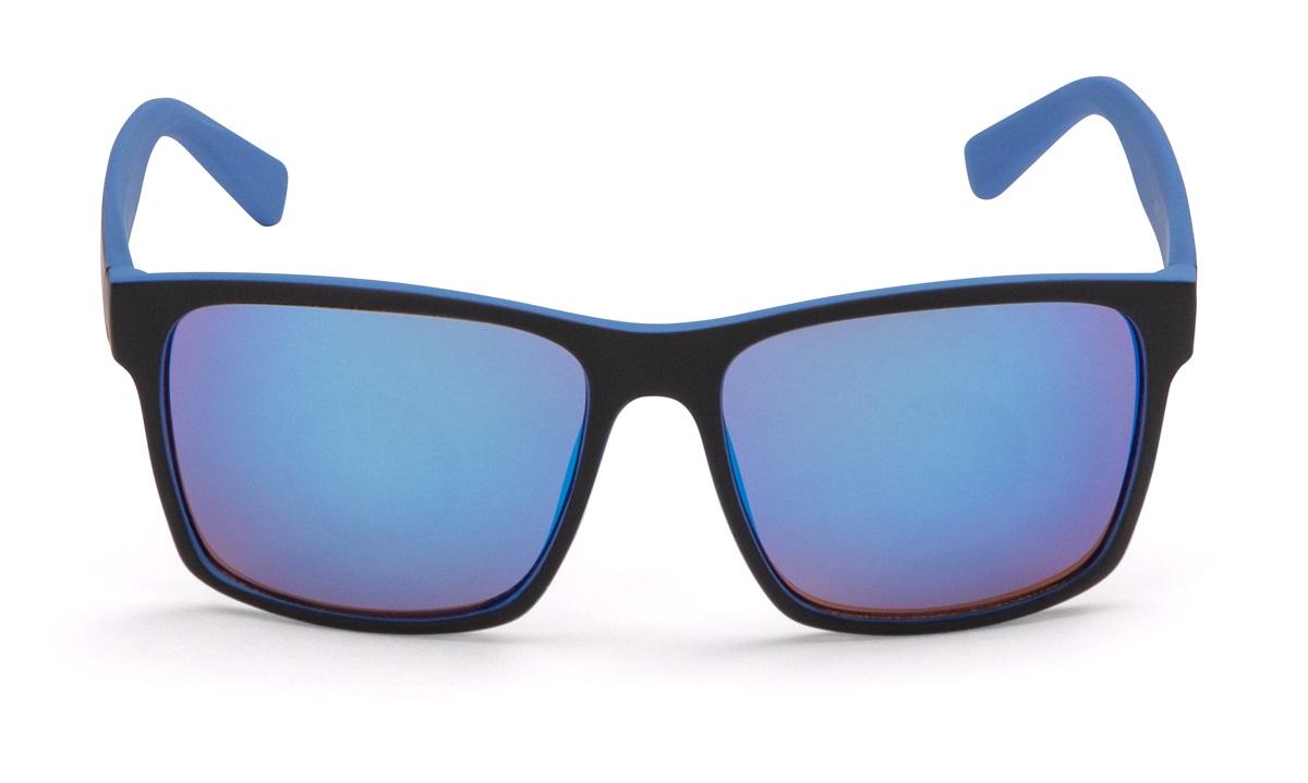 Sportsbrille mat blå/sort blå spejlglas