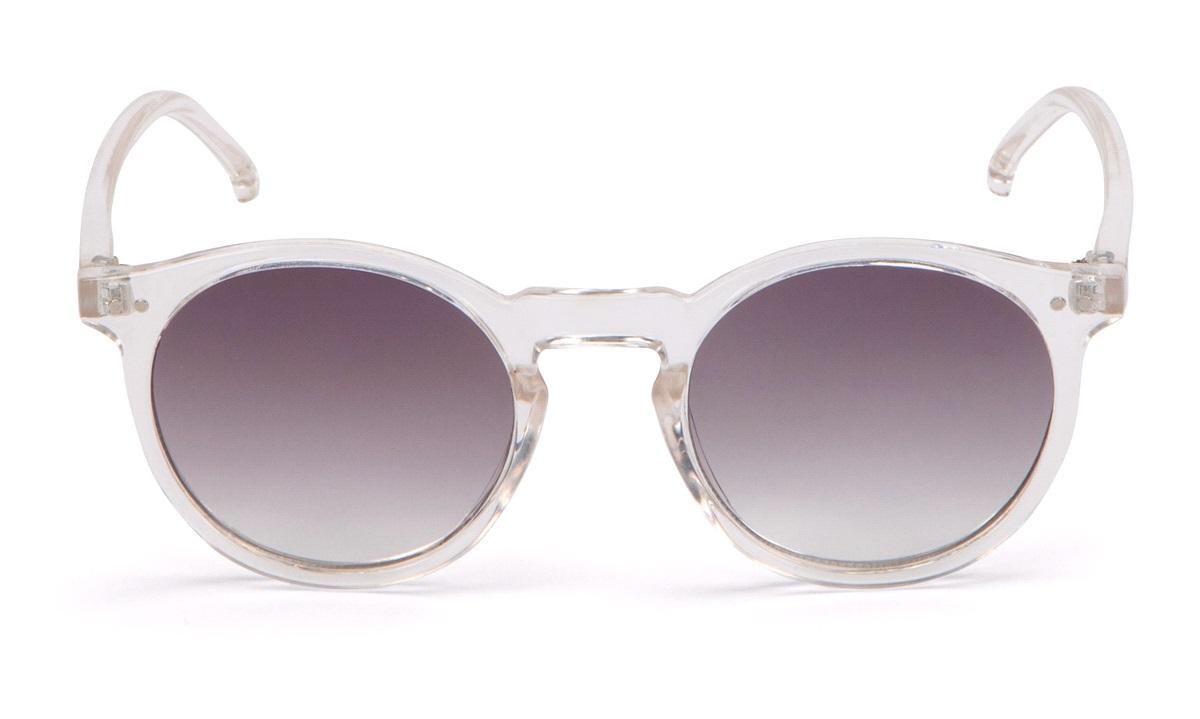 Modebrille transp. m/grå graduerede glas